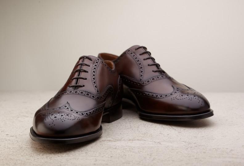 Dark Oak Malvern Leather Brogues Edward Green 0mJSVT4W