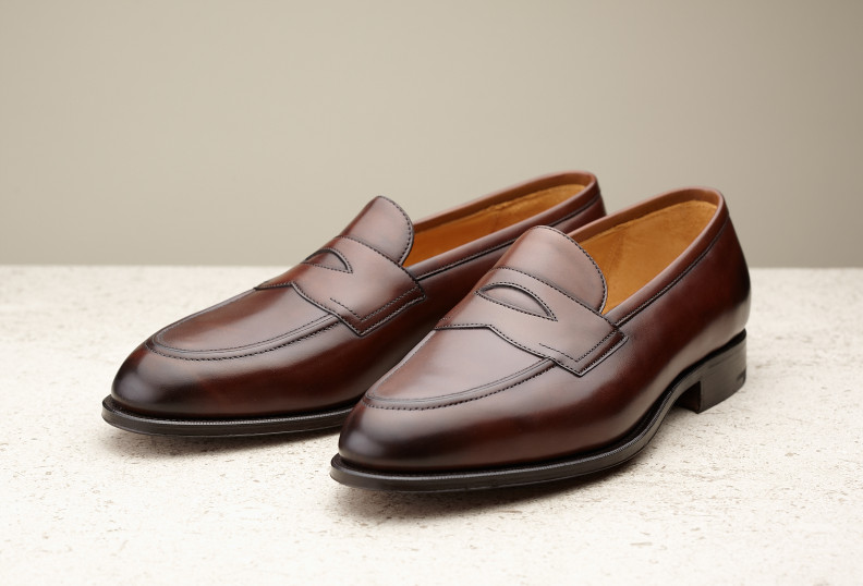 Black Piccadilly Leather Penny Loafers Edward Green oqOTuK3