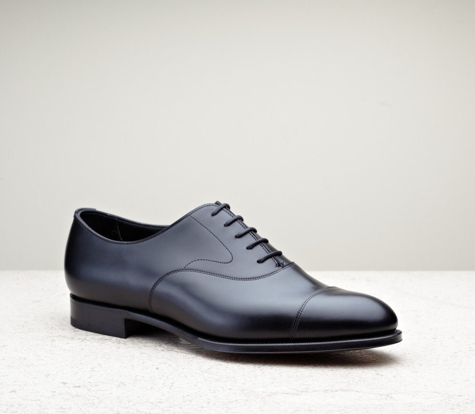 Black Chelsea Cap-Toed Leather Oxfords Edward Green Vu3sAx