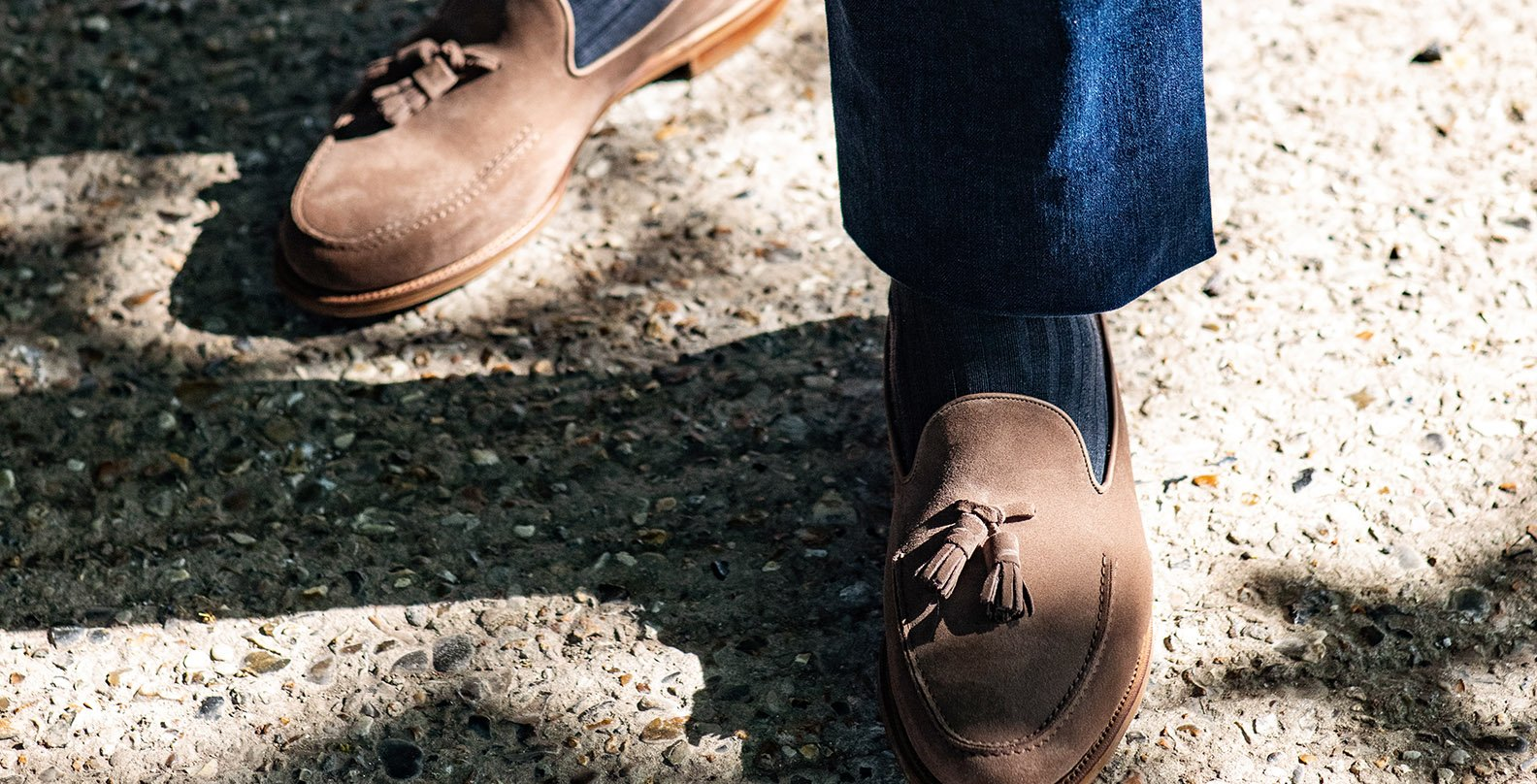 The Cromer in mole suede